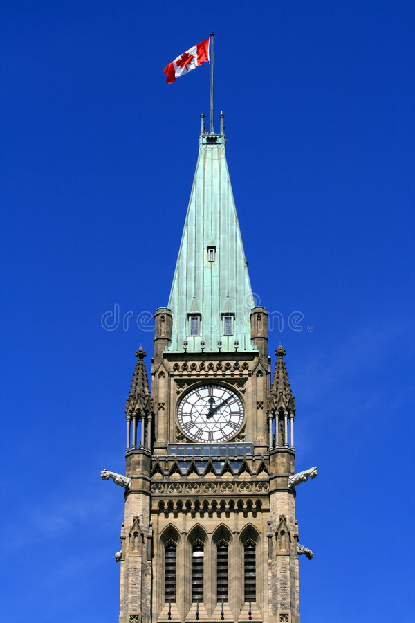 Upper Peace Tower royalty free stock photo