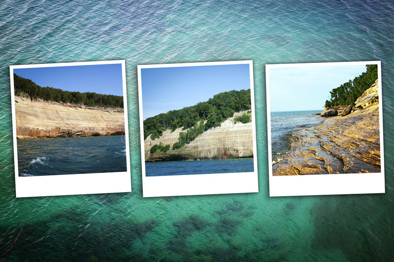 Upper Peninsula Michigan Background Royalty Free Stock Images