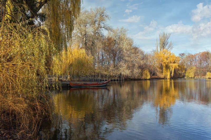 The Upper Pond in park Sofiyivka. Uman city, Ukraine stock image