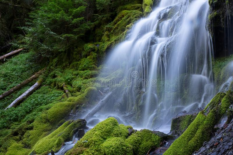 Upper Proxy Falls stock photography