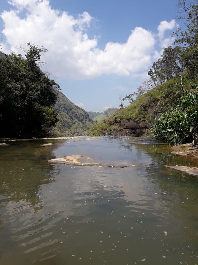 Upper Ravana Falls Ella sri lanka royalty free stock images