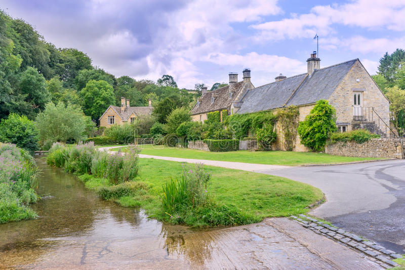 Upper Slaughter. In the English Cotswolds royalty free stock images