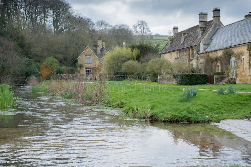 UPPER SLAUGHTER, GLOUCESTERSHIRE/UK - MARCH 24 : Scenic View of. Upper Slaughter Village in the Cotswolds in Gloucestershire on March 24, 2017 stock photo