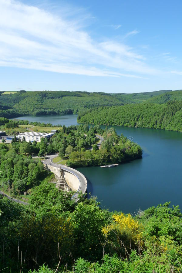 Download Upper Sure reservoir stock image. Image of down, scenic - 9497419