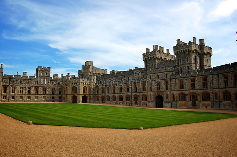 Upper Ward at Windsor Castle, England stock photo