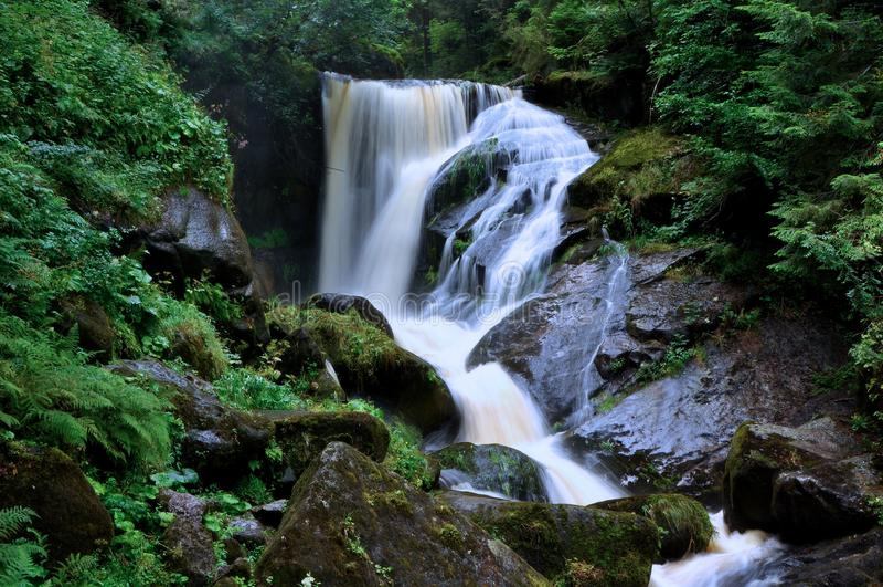 Upper Waterfall in Triberg stock photo