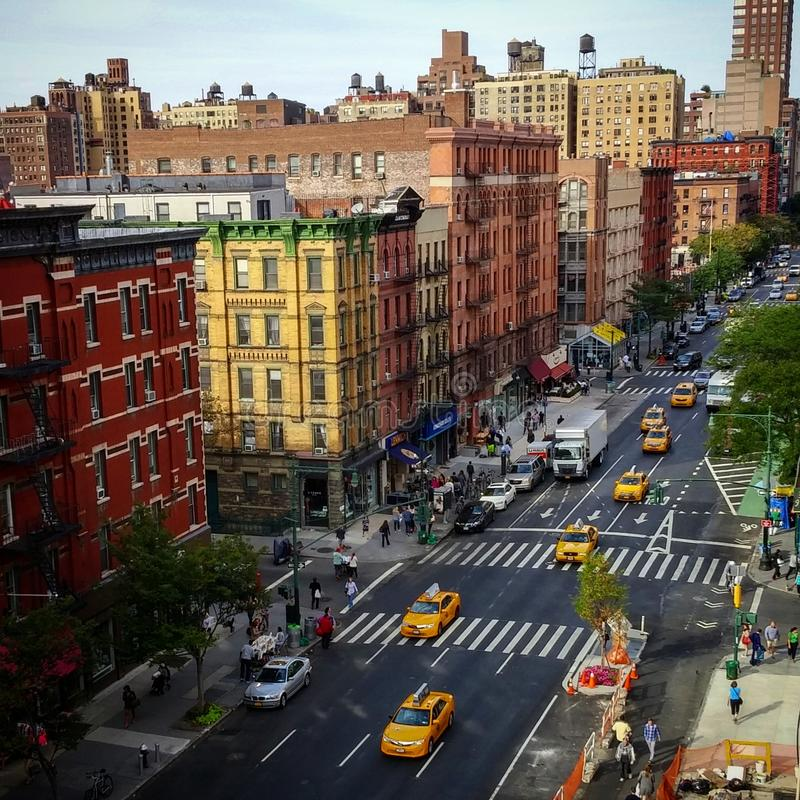 Upper west side NYC view royalty free stock photography