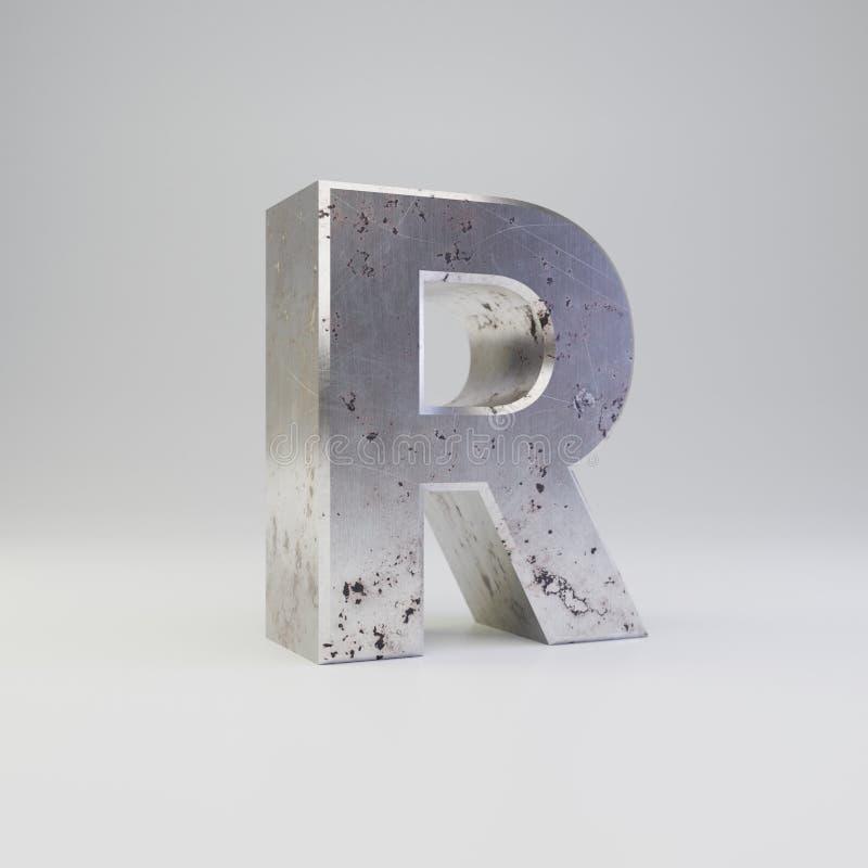 Uppercase письма r металла E бесплатная иллюстрация
