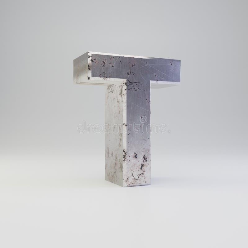 Uppercase письма t металла E иллюстрация штока