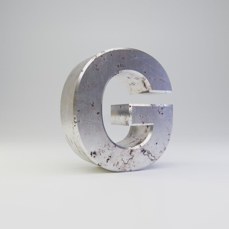 Uppercase g письма металла E иллюстрация вектора