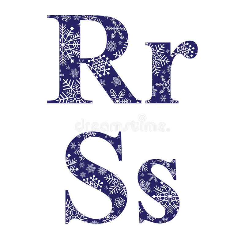 Uppercase And Lowercase Letters R And S Stock Vector Illustration