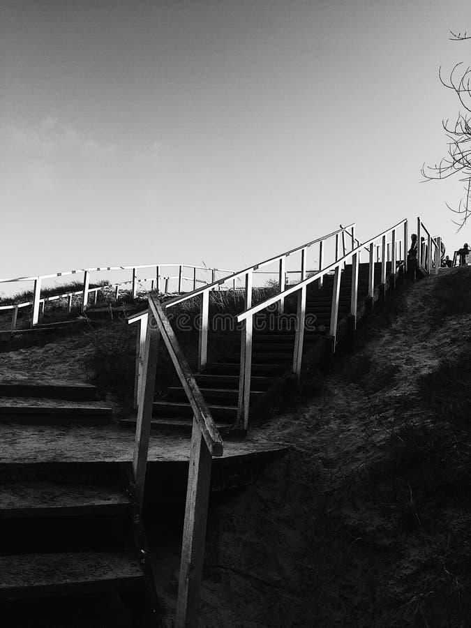 Uppför trappan till någonstans royaltyfri fotografi