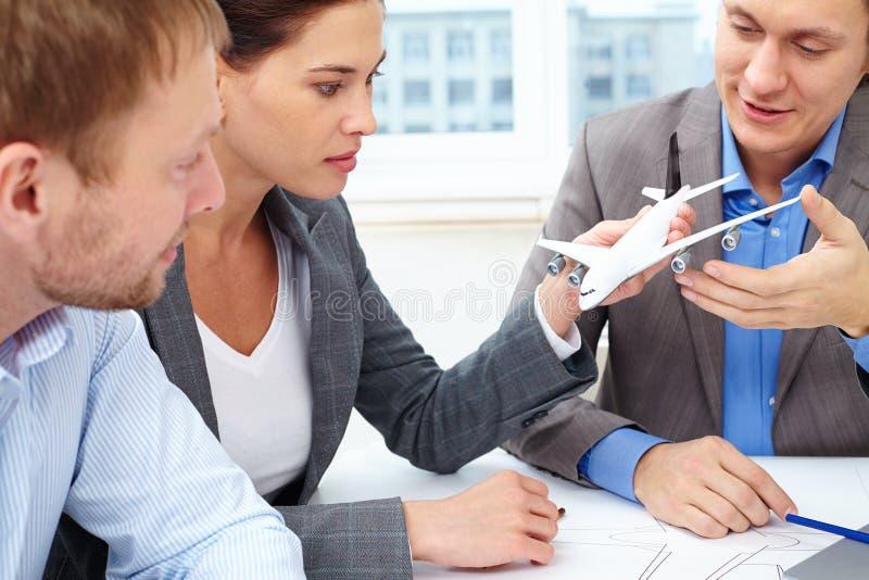 Uppfinnare av flygplan fotografering för bildbyråer