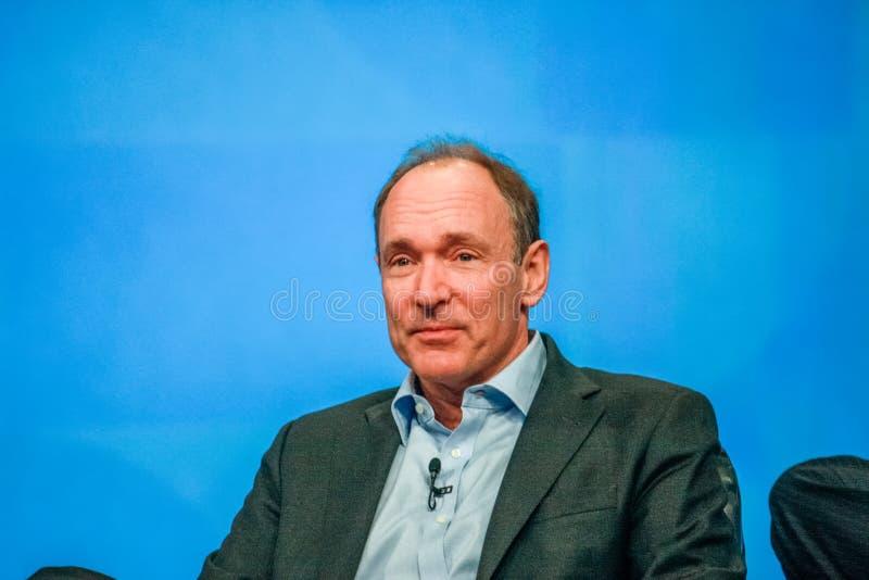 Uppfinnare och grundare av world wide web Sir Tim Berners-Lee royaltyfri fotografi