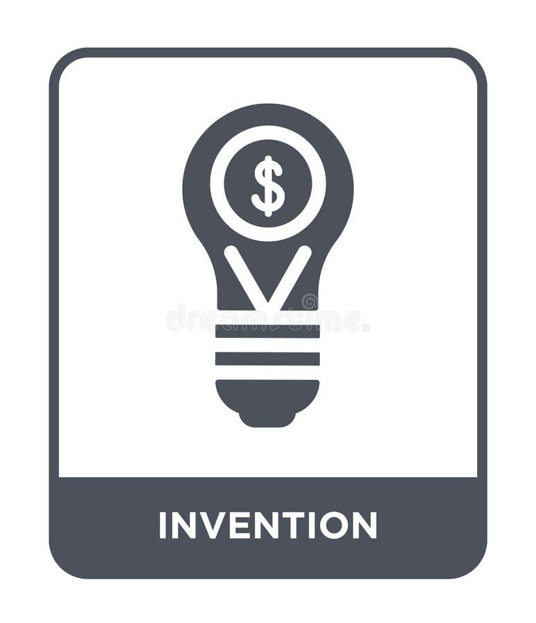 uppfinningsymbol i moderiktig designstil Uppfinningsymbol som isoleras på vit bakgrund enkel och modern lägenhet för uppfinningve vektor illustrationer