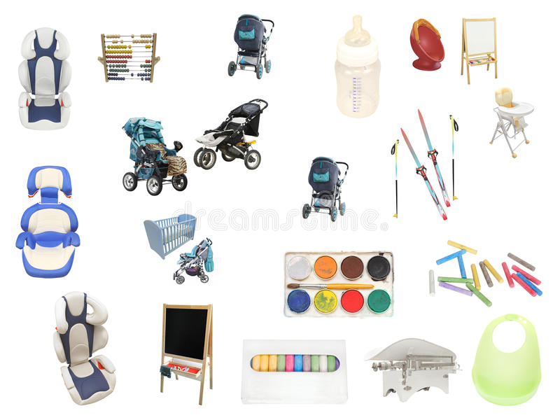 uppfostran för objekt s för barn bekymrad vektor illustrationer