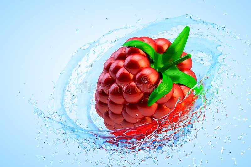 Uppfriskande begrepp för ny frukt vektor illustrationer