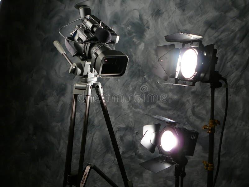 uppgiftskameralampor arkivfoto