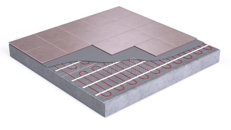 Upphettat golv vektor illustrationer