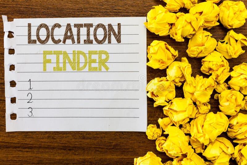 Upphittare för handskrifttextläge Begrepp som betyder a-service som presenteras för att finna adressen av ett utvalt ställe royaltyfria foton