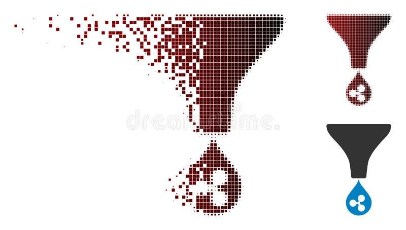 Upplösa för krusningstratt för PIXEL den rastrerade symbolen royaltyfri illustrationer