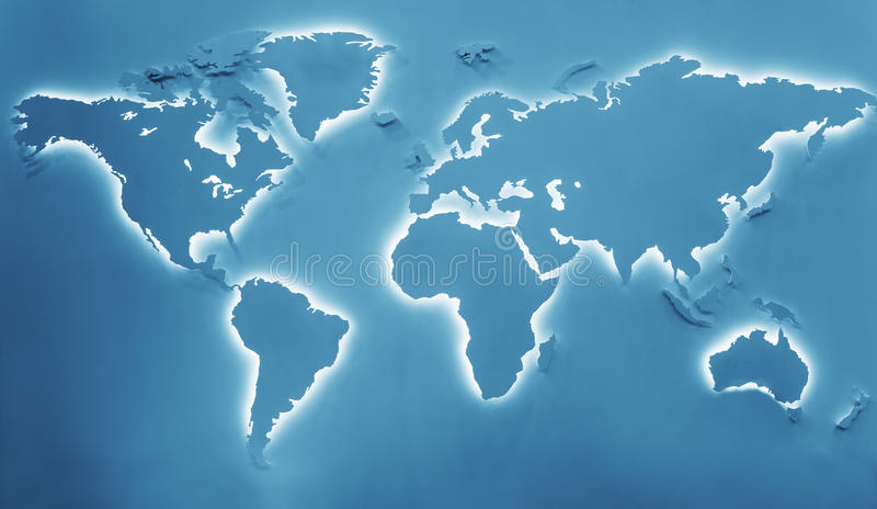 Upplyst jordöversikt arkivbild