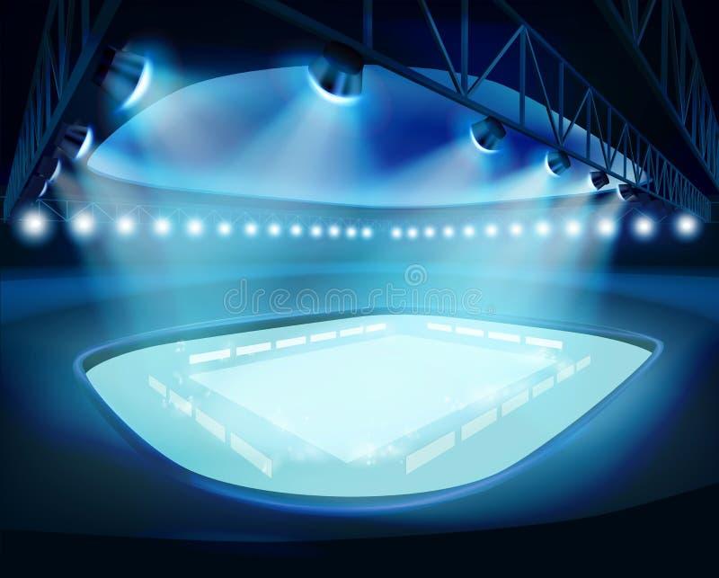 Upplyst stadion också vektor för coreldrawillustration stock illustrationer