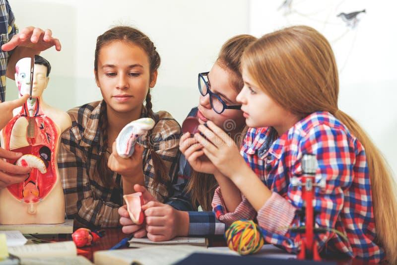 Uppmärksamma barn på den nödvändiga föreläsningen arkivfoto