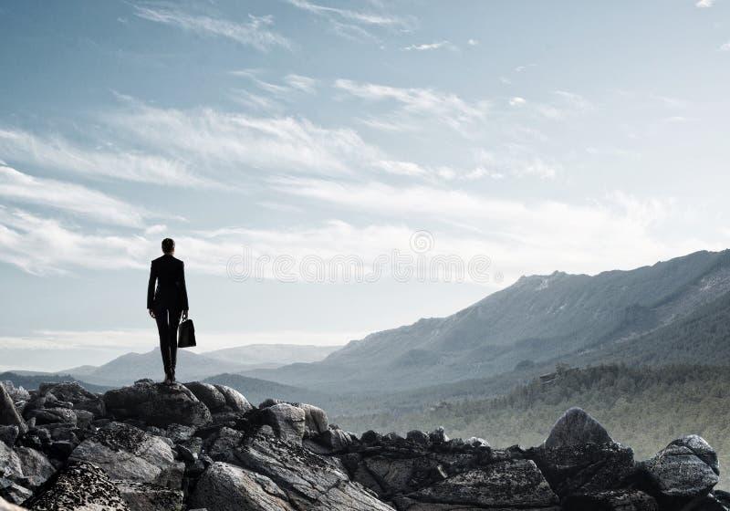 Uppnå överkanten av framgång arkivfoto