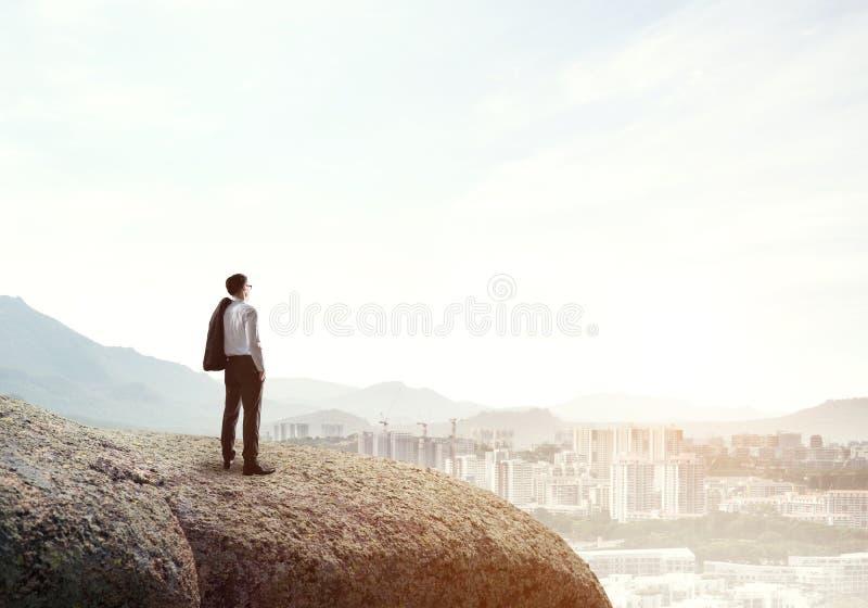 Uppnå överkanten av framgång arkivbild