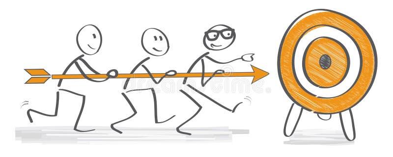 Uppnå målbegrepp vektor illustrationer
