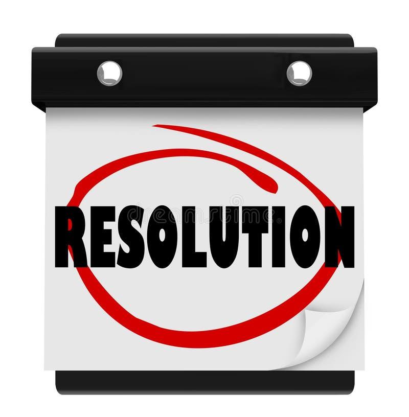 Uppnår löfte för löftet för det nya året för upplösning målet löste beskickningen Ca royaltyfri illustrationer