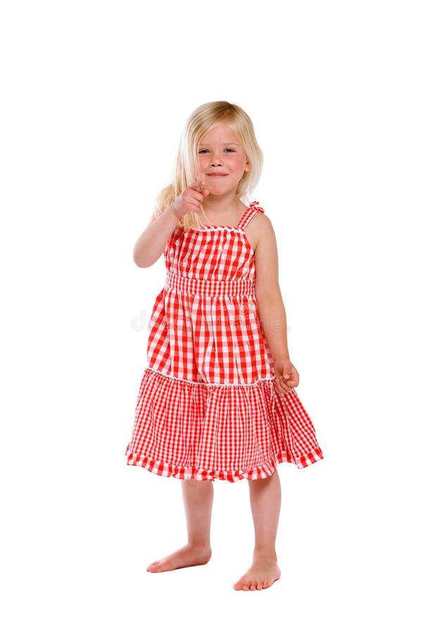 uppnosig flicka little fotografering för bildbyråer