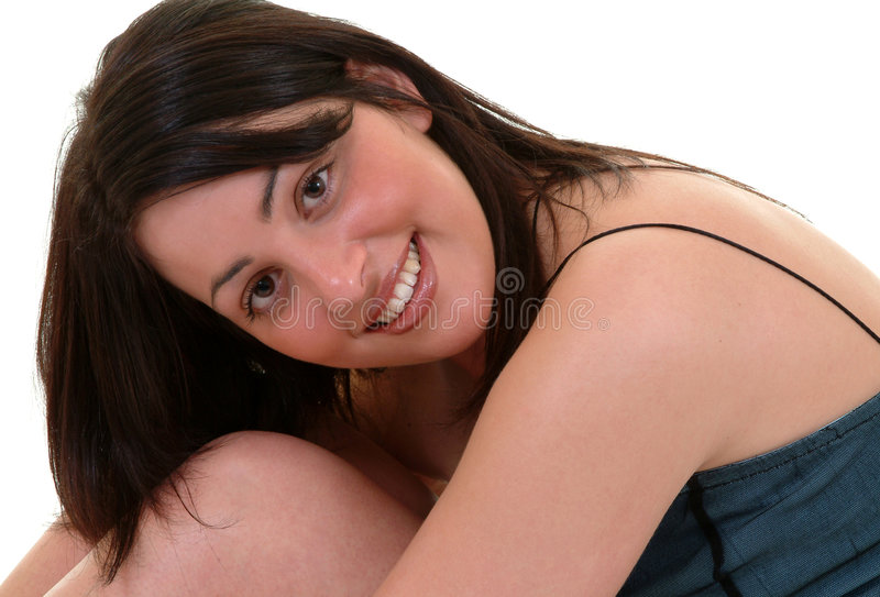 uppnosigt leende arkivfoton