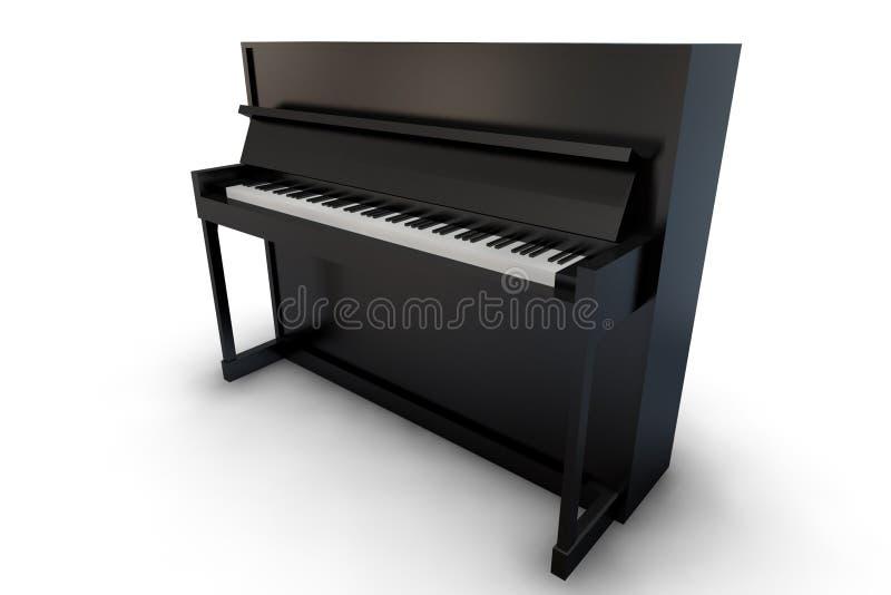 upprätt svart piano royaltyfri illustrationer
