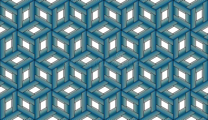 Upprepa blåttkuber - Tileable bakgrund royaltyfria foton