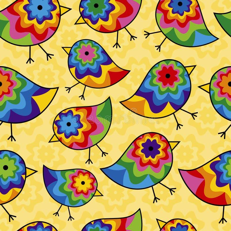 upprepa för bakgrundsfågelunge stock illustrationer