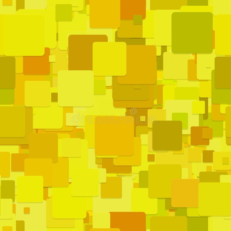 Upprepa geometrisk fyrkantig modellbakgrund - grafisk design för vektor från gula fyrkanter stock illustrationer