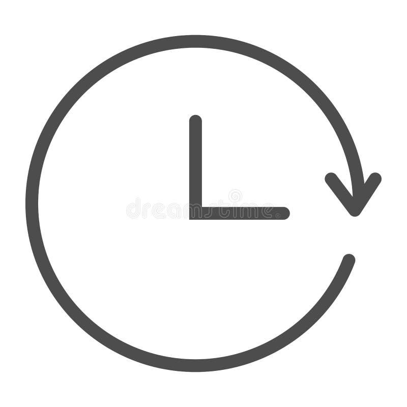Upprepa tidslinjesymbolen Illustration för vektor för tillbakaläggandetid som isoleras på vit Rund design för tidöversiktsstil so vektor illustrationer