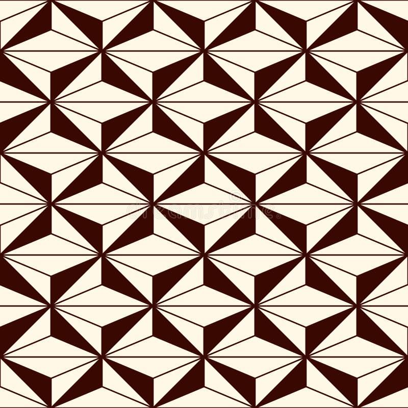 Upprepade diagram bakgrund geometriska former Sömlös modell med polygoner Samtidaabstrakt begrepptryck stock illustrationer