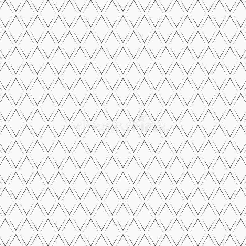 Upprepade svarta vinkelkonsoler på vit bakgrund planlägg den seamless modellen Sparrar gör sammandrag konstverk Kurvprydnad royaltyfri illustrationer