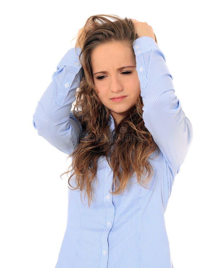 Uppriven tonårs- flicka arkivfoton