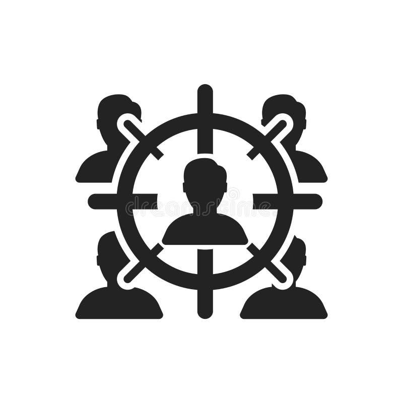 Uppsätta som mål det symbolsvektortecknet och symbolet som isoleras på vit bakgrund, mållogobegrepp royaltyfri illustrationer