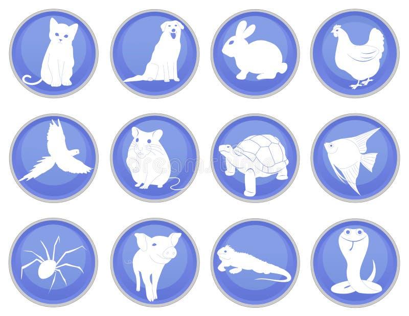 Uppsättning av älsklings- symboler stock illustrationer
