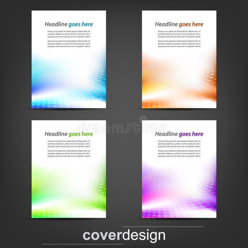 Uppsättning av affärsreklambladmallen, det företags banret eller räkningsdesignen vektor illustrationer