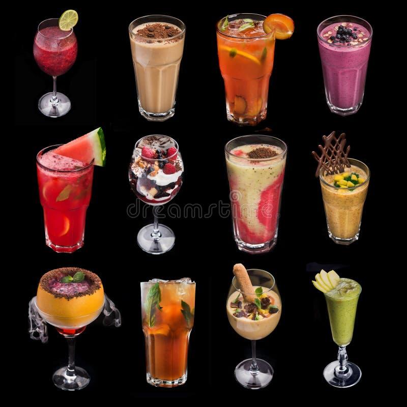 uppsättning av alkoholdrinkcoctailen fotografering för bildbyråer