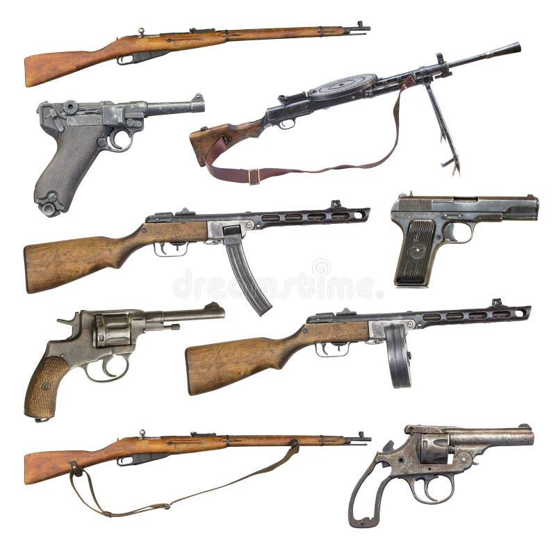 Uppsättning av antika skjutvapenvapen fotografering för bildbyråer