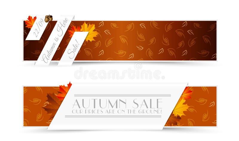 Uppsättning av Autumn Banners vektor illustrationer