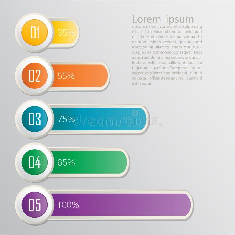 Uppsättning av band. Infographic design vektor illustrationer