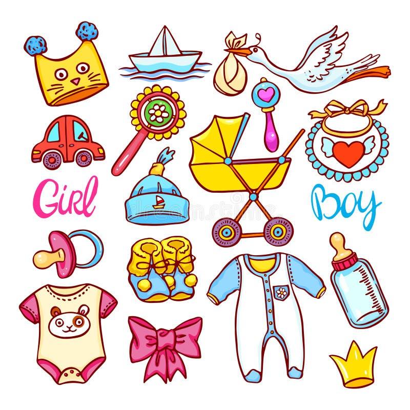 Uppsättning av barnsaker vektor illustrationer